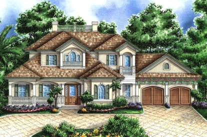 5 Bed, 5 Bath, 4587 Square Foot House Plan - #1018-00140