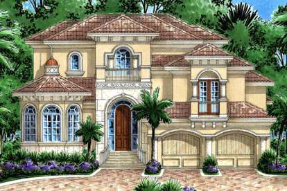 4 Bed, 4 Bath, 4596 Square Foot House Plan - #1018-00141