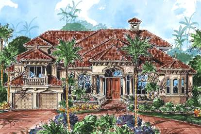 4 Bed, 5 Bath, 4857 Square Foot House Plan - #1018-00151