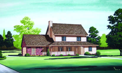 3 Bed, 2 Bath, 1487 Square Foot House Plan - #048-00053