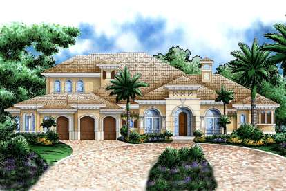 4 Bed, 4 Bath, 5049 Square Foot House Plan - #1018-00161