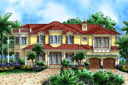 4 Bed, 4 Bath, 5079 Square Foot House Plan - #1018-00163