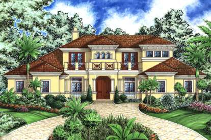 4 Bed, 5 Bath, 5126 Square Foot House Plan - #1018-00165