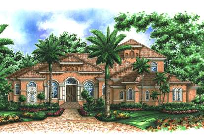 4 Bed, 5 Bath, 5087 Square Foot House Plan - #1018-00167
