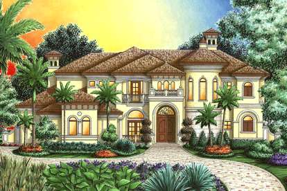 4 Bed, 4 Bath, 5164 Square Foot House Plan - #1018-00168