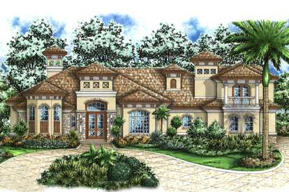 4 Bed, 4 Bath, 5408 Square Foot House Plan - #1018-00172