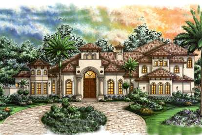 4 Bed, 5 Bath, 5438 Square Foot House Plan - #1018-00173