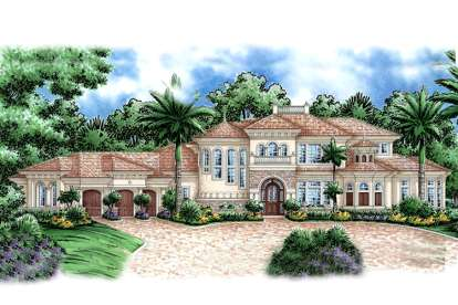 4 Bed, 5 Bath, 5604 Square Foot House Plan - #1018-00175