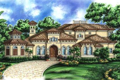 4 Bed, 4 Bath, 5796 Square Foot House Plan - #1018-00176