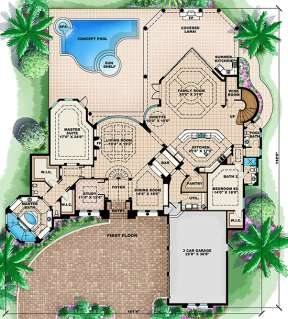 Floorplan 1 for House Plan #1018-00176