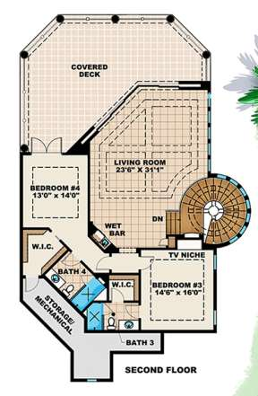 Floorplan 2 for House Plan #1018-00176