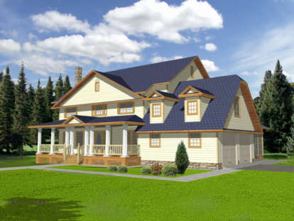 5 Bed, 5 Bath, 3928 Square Foot House Plan - #039-00285