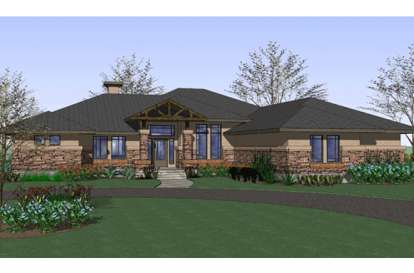 3 Bed, 2 Bath, 2813 Square Foot House Plan - #9401-00067