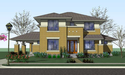 4 Bed, 3 Bath, 3497 Square Foot House Plan #9401-00074