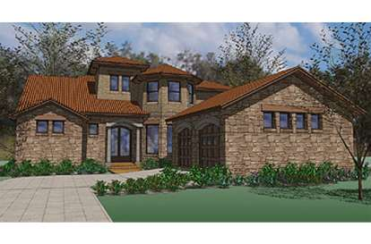 5 Bed, 3 Bath, 4222 Square Foot House Plan - #9401-00077