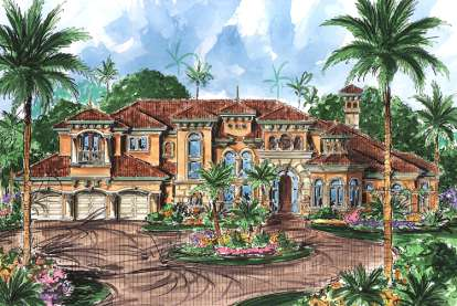5 Bed, 5 Bath, 6771 Square Foot House Plan - #1018-00188