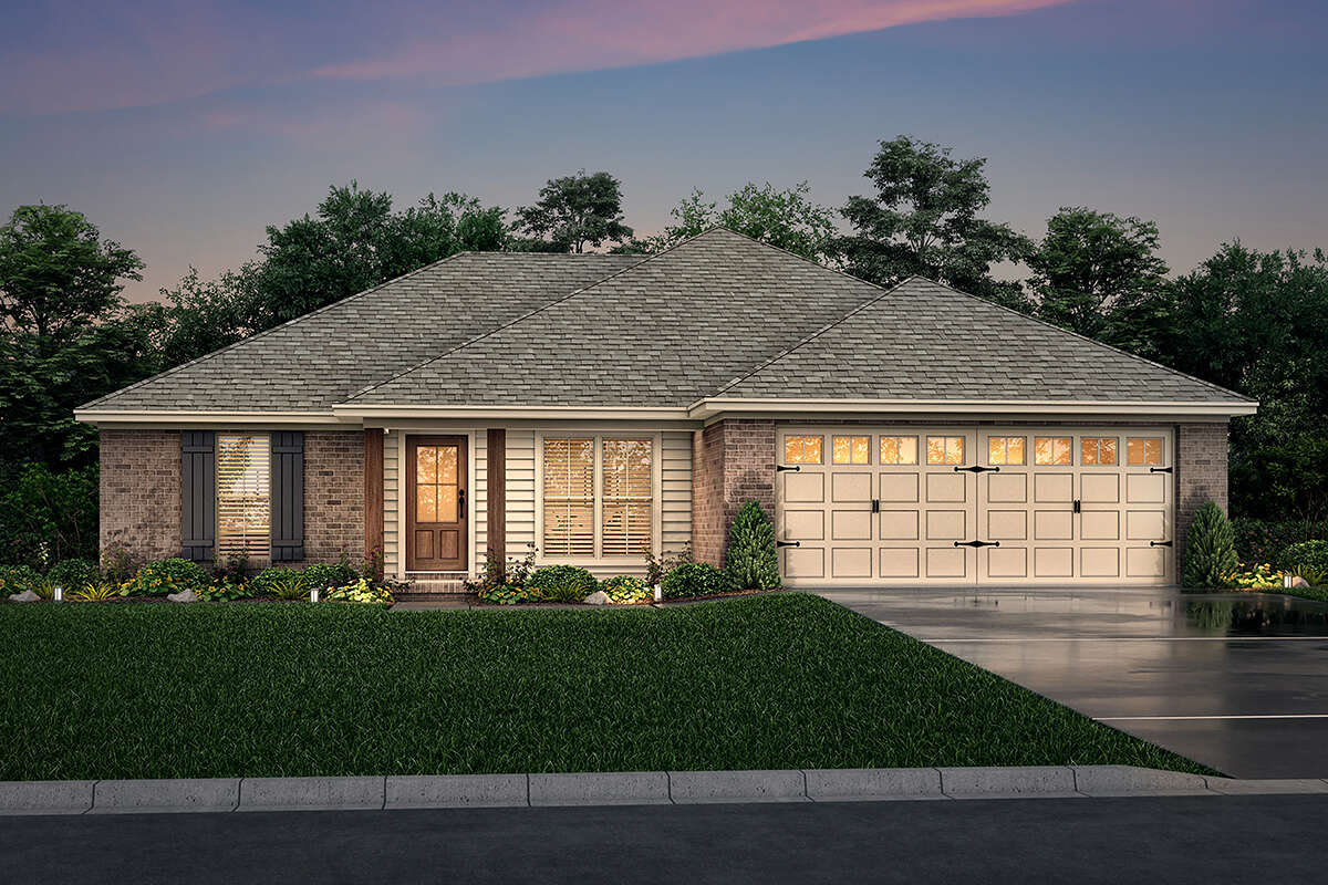 Ranch Plan 1 300 Square Feet 3 Bedrooms 2 Bathrooms