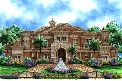 5 Bed, 5 Bath, 6780 Square Foot House Plan - #1018-00190