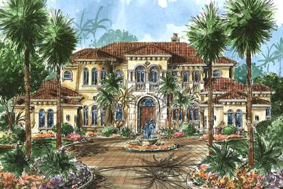 5 Bed, 6 Bath, 7123 Square Foot House Plan - #1018-00192