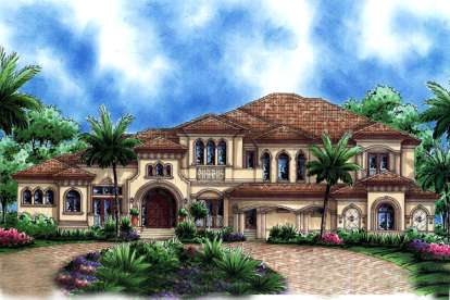 4 Bed, 5 Bath, 7384 Square Foot House Plan - #1018-00195