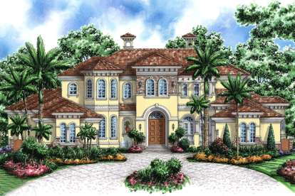 4 Bed, 5 Bath, 7441 Square Foot House Plan - #1018-00196