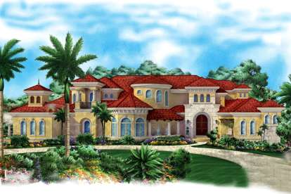 5 Bed, 5 Bath, 9202 Square Foot House Plan - #1018-00197