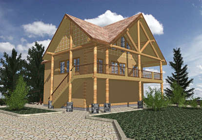 2 Bed, 1 Bath, 1435 Square Foot House Plan - #039-00292