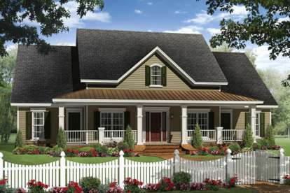 4 Bed, 3 Bath, 2436 Square Foot House Plan #348-00220