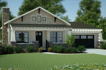 3 Bed, 2 Bath, 1199 Square Foot House Plan #7806-00013