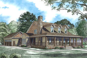 Farmhouse House Plan #110-00971 Elevation Photo