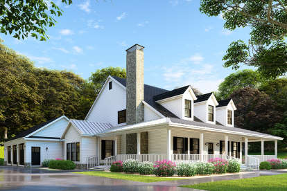 4 Bed, 3 Bath, 2173 Square Foot House Plan #110-00971