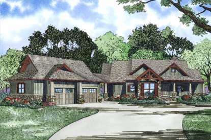 4 Bed, 4 Bath, 3579 Square Foot House Plan #110-00972