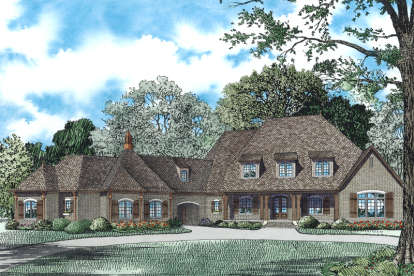 6 Bed, 5 Bath, 6363 Square Foot House Plan - #110-00973