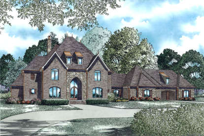 3 Bed, 4 Bath, 4380 Square Foot House Plan - #110-00976