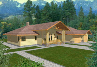 3 Bed, 2 Bath, 2618 Square Foot House Plan - #039-00295