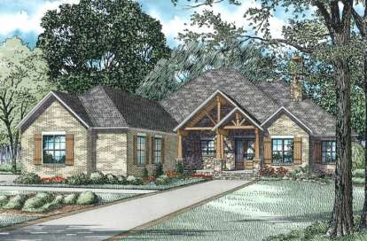 3 Bed, 2 Bath, 3307 Square Foot House Plan - #110-00980