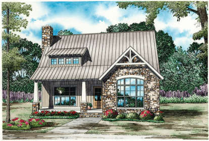 3 Bed, 2 Bath, 1874 Square Foot House Plan - #110-00984