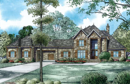 4 Bed, 4 Bath, 4949 Square Foot House Plan - #110-00985