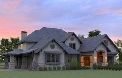 4 Bed, 4 Bath, 4181 Square Foot House Plan - #7806-00017
