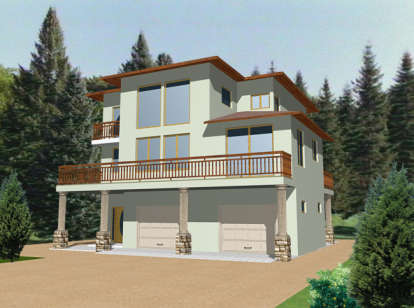 3 Bed, 3 Bath, 2142 Square Foot House Plan - #039-00301