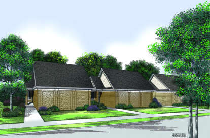 2 Bed, 2 Bath, 1459 Square Foot House Plan - #048-00058