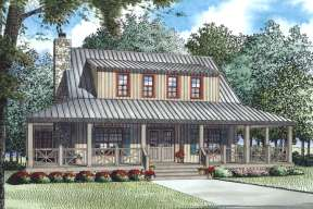 Cottage House Plan #110-00987 Elevation Photo