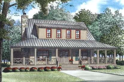 3 Bed, 3 Bath, 1792 Square Foot House Plan - #110-00987