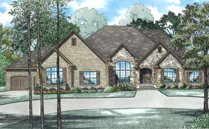 3 Bed, 3 Bath, 4076 Square Foot House Plan #110-00989