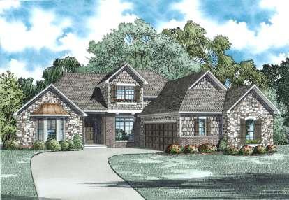 3 Bed, 2 Bath, 2506 Square Foot House Plan - #110-00993