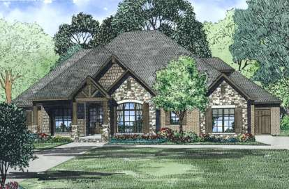 4 Bed, 3 Bath, 2340 Square Foot House Plan #110-00994