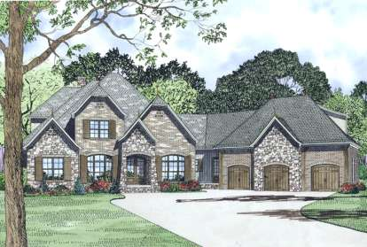 4 Bed, 3 Bath, 3752 Square Foot House Plan - #110-00996