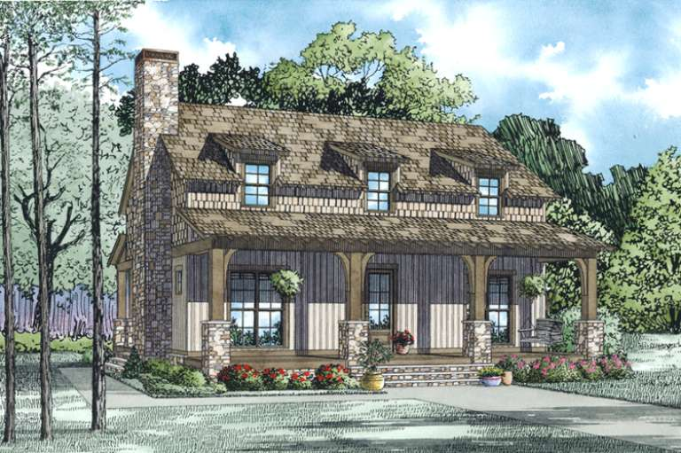 Country House Plan #110-00998 Elevation Photo