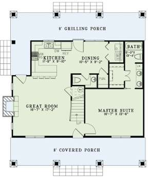 Floorplan 1 for House Plan #110-00998