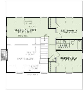 Floorplan 2 for House Plan #110-00998